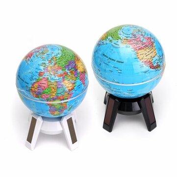 11cm solar powered rotating world map globe geography atlas with led 11cm solar powered rotating world map globe geography atlas with led light stand gumiabroncs Gallery