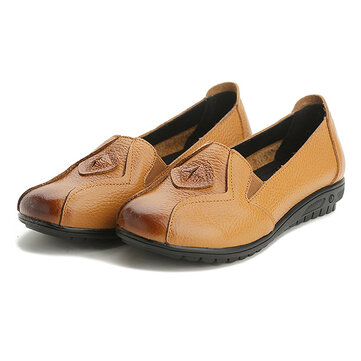 Women Shoes Slip On Leather Loafers