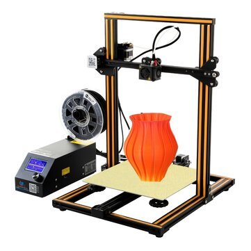 "Creality 3D® CR-10 DIY 3D Printer Kit 300 * 300 * 400 מ""מ גודל הדפסה 1.75mm 0.4mm נחיר"
