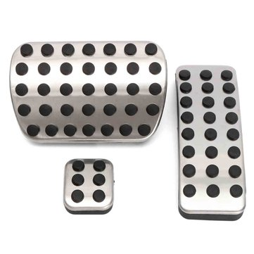 Chrome Steel Foot Brake Pedal Pads Covers For Benz M GL R Class AMG