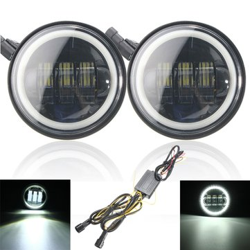 4 inch LED Driving Auxiliary Lamps Sides Headlights For Harley Motorcycle Jeep Wrangler