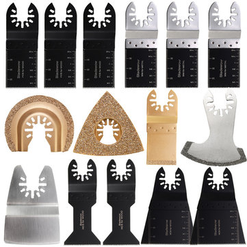15Pcs Multitool Saw Blades Oscillating Multitool for Fein Bosch MultiMaster