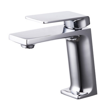 Modern Chrome Sink Basin Mixer Single Handle Bathroom Kitchen Hot Cold Water Faucet Tap