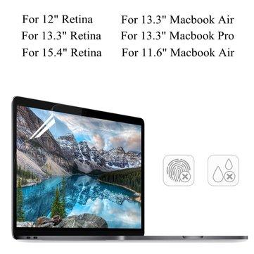 PET Şeffaf Şeffaf Anti Macbook Air için Parlaklık Ekran Koruyucu 11.6