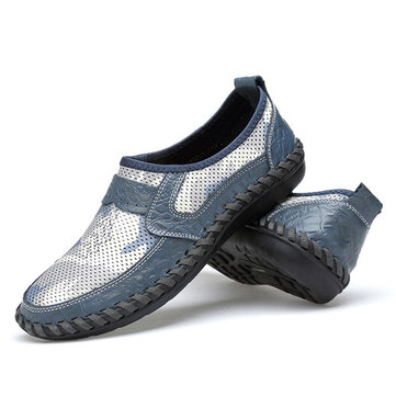 Men Casual Comfortable Mesh Breathable Oxfords