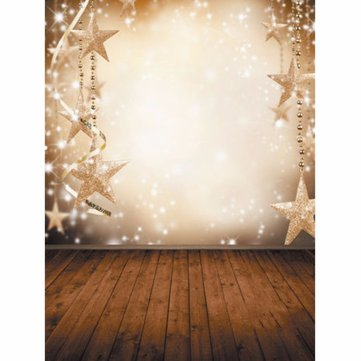 1.5 x 2.1m Vinyl Background Cloth Photography Christmas Fantasy Snowflake Stars Backdrop