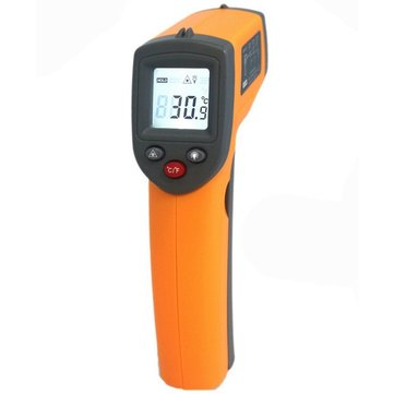 GS320 Laser Digital LCD IR Infrared Thermometer Auto Temperature Meter Gun Non Contact Sensor -50°C~360°C/-58°F~680°F