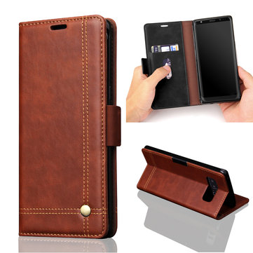 PU Leather Flip Card Slot Bracket Magnetic Case for Samsung Galaxy Note 8