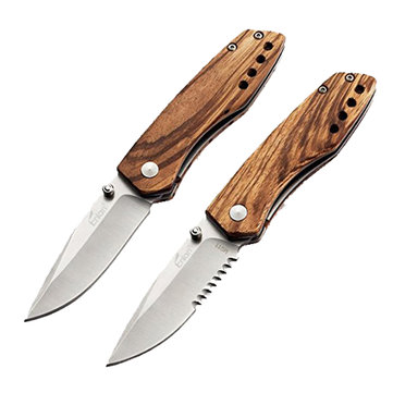 Enlan M011 165mm 8CR13MOV Stainless Steel Blade Wood Handle Mini Pocket EDC Folding Knife