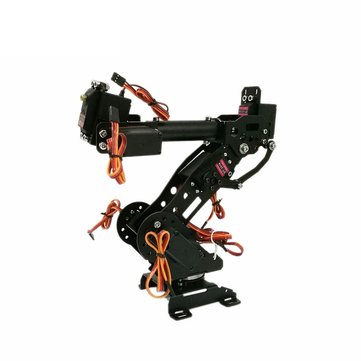 7 DOF Black Mechanical Aluminum Alloy Robot Arm for Arduino