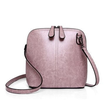 Women High Quality PU Leather Shell Vintage Shoulder Bag Crossbody Bag
