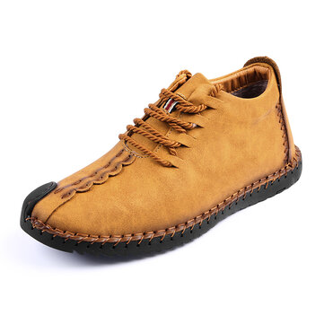 Menico Men Big Size Comfortable Stitching Ankle Boots