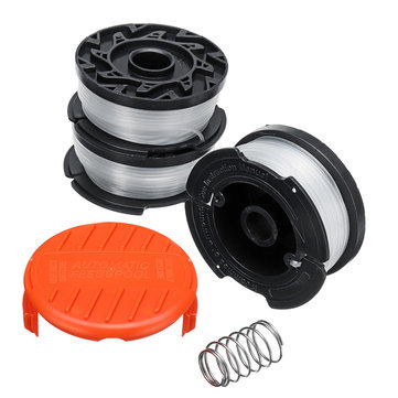 5pcs 30ft 0.065 Inch Trimmer Head Line and Spool Cap Cover for Black Decker GH400 GH500 GH600