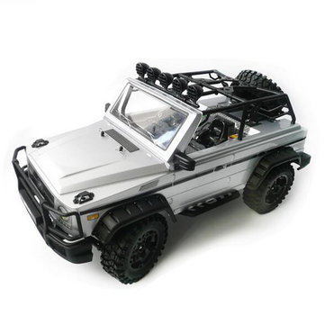 HG P402 1/10 2.4G 4WD Rc Car 540 Brushed Rock Crawler Metal 4X4 Pickup Truck RTR Toy