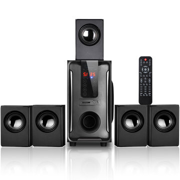 Wireless Bluetooth 5.1 Subwoofer With 5 Satellite Speaker Remote Control Surround Sound Home Theater