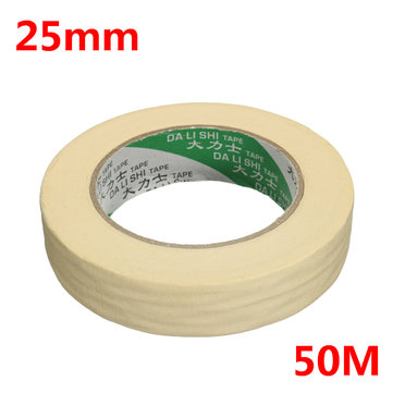 25mm x 50M Roll Beige Masking Tape Printing Decorative Adhesive Sticker