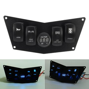 4 Rocker Switch Dash Panel For Polaris Ranger RZR 800S 900XP XP900 570 ATV UTV
