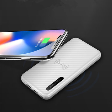 Teclast T100X 10000mAh QI Wireless Charger Pad Dual USB Ports Power Bank Built-in Wireless Charging