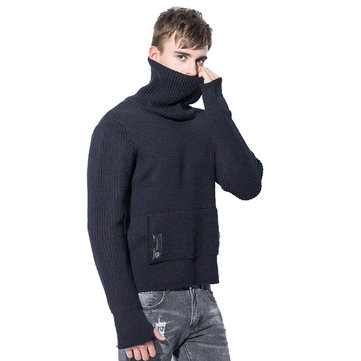 High Street Turtleneck Thick Warm Knitted Hoodies