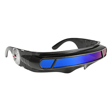 Futuristic Sunglasses Mirrored Narrow Lens Wrap Visor Robot Costume Wrap Glasses