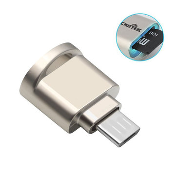 Rocketek Mini Metal Micro USB OTG TF Card Memory Card Reader for Xiaomi Smartphone