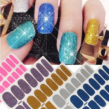 Sand Crystal Scrub Nail Art Stickers DIY Manicure Tips Decal