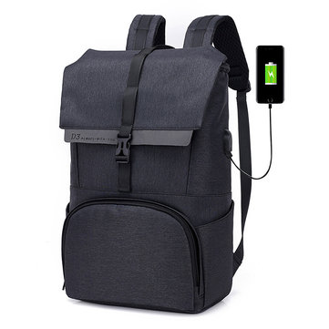 Oxford Large Capacity 17 Inches Laptop Bag USB Charging Bag