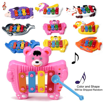 Baby Kids Musical Educational Animal Developmental Music Bell Toy 4 Tone Gift