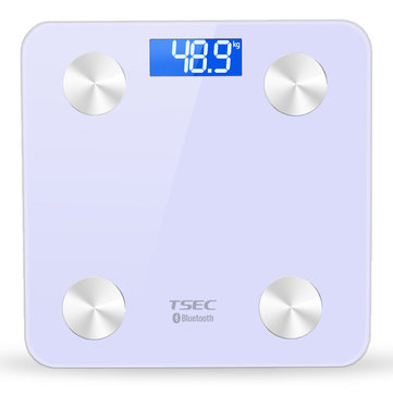 TS-8028 Bluetooth Monitor Data 4.0 LCD Smart APP Body Fat Scales Weight BMI Monitor Data Analyzer Weight Tools with APP Control