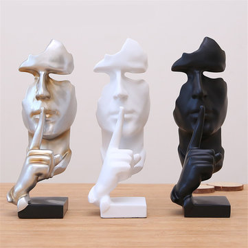 Modern Resin Figure Statue Craft Abstract Sculpture Arts Office Home Xmas Decorations