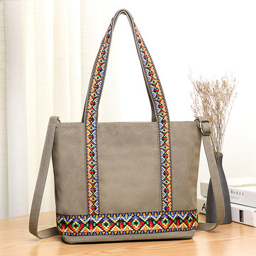 Women Canvas National Embroidery Patchwork Handbag Crossbody Bag Shoulder Bag