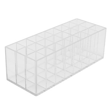 Acrylic Lipstick Organizer Lip Gloss Makeup Holder & 24 Spaces Cosmetics Storage Display