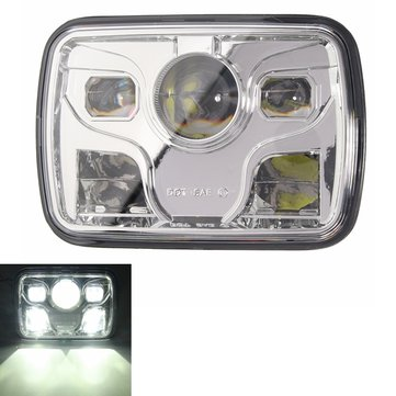 7x6inch LED DRL 32W HID Bulbs High/Low Beam Front Headlight Headlamp Assembly