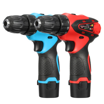 VOYO 12V 680W Cordless Screwdriver 2 Speed Electric Drill Lithium Battery Power Drills