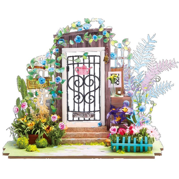 Robotime DG-M02 DIY Doll House Miniature With Furniture Wooden Dollhouse Toy Decor Craft Gift