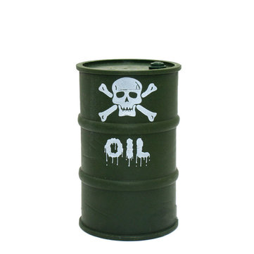 Military Plastic Oil Drum for 1/10 RC Rock Crawler Axial SCX10 TRX4 Rc Car Parts Decoration Tools