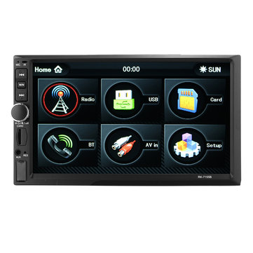 7 Inch 1080P Bluetooth Touch Screen Car MP5 Player Rear View Camera Support FM/AM/RDS/AUX