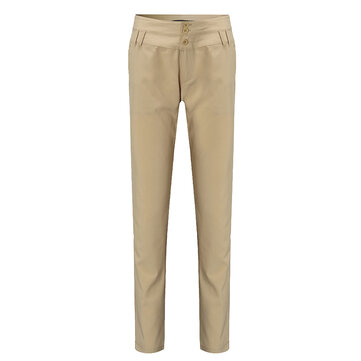 Casual Women Slim High Waist Solid Pattern Pencil Pants