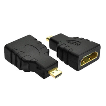 HD Port 1.4 Micro HD Port-D Male to Standard HD Port-A Female Connector Adapter Support 3D WiFi