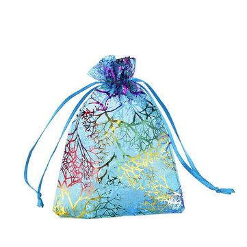 50Pcs Coralline Organza Gift Bags Jewelry Pouch Candy Wedding Party Favour Bag