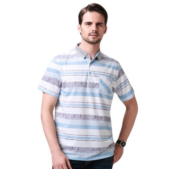 Fashion Striped Silk Soft Short-sleeved Golf Shirts