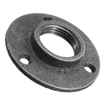 DN25 1 Inch Malleable Iron Pipe Fitting Wall Mount Floor Flange Threaded Hole