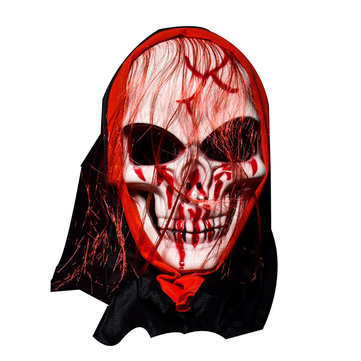 KALOAD M4 Halloween Mask Bar Dance Horror Scary Long Hair Skull Ghost