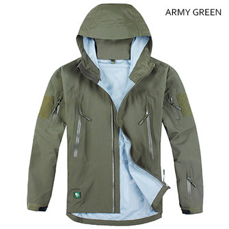 Tactical Outdooors Shark Skin Jacket Mens Military Hard Shell TAD Scale GEL Waterproof Coat