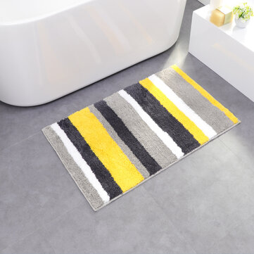 Honana CT-043 Microfiber Line Double Stripes For Door And Home Mats Non-slip Absorbent Carpet