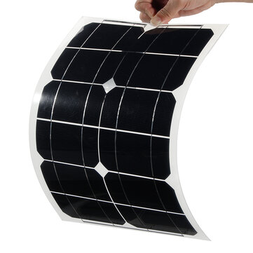 Elfeland® 20W 5V Elfeland Semi Flexible Sun Power Solar Panel USB Interface For Smartphone
