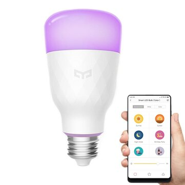 Xiaomi Yeelight YLDP06YL E26 E27 10W RGBW Smart LED Bulb WiFi App בקרת AC100-240V