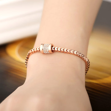 JASSY® Stylish Rose Gold Inlay Zircon Crystal Bracelet Anallergic Bracelet Fashion Jewelry For Women