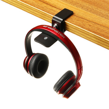 Universal Metal Headset Earphone Headphone Hanger Stand Holder Desktop Table Clamp Clip Hook