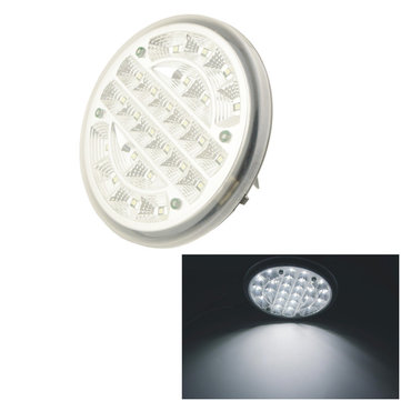GT-690 Car 24 LED 14cm Dia Round Dome Roof Ceiling Interior Light Lamp Reading Light White Light